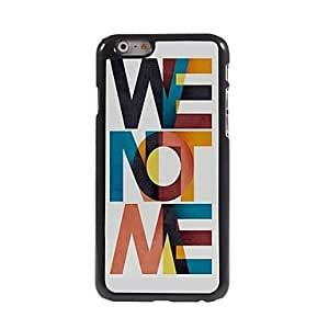 SOL We Not We Pattern Aluminum Hard Case for iPhone 6