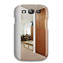 High Quality Protection White Contemporary Kid8217s Bedroom With Wood Closet 038 Colorful Coat Hooks Case Cover For Galaxy S3