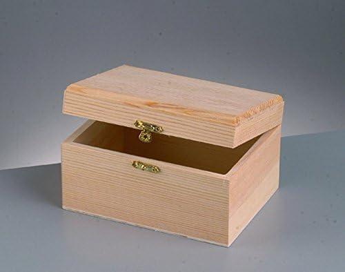 Pequeña caja de madera con cierre para decorar - 11 cm x 7 cm x 6 ...