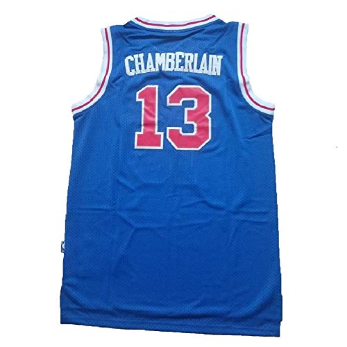 Chamberlain Jersey Men's Philadelphia 13 Jerseys Wilt Basketball Jersey Blue (XL)