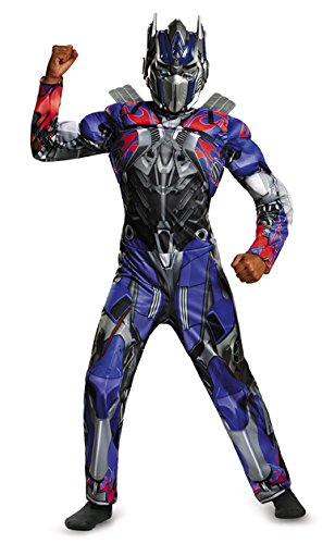 Disguise Hasbro Transformers Age of Extinction Movie Optimus Prime Classic Muscle Boys Costume, Small/4-6 - Optimus Prime Costumes