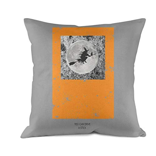 Simplicity Home Decoration Throw Pillow Cover Modern Quality Design Yes I Can Drive a Stick Halloweenwhite 18