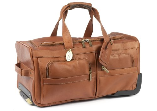 Claire Chase Rolling Duffel, Saddle, One Size by ClaireChase