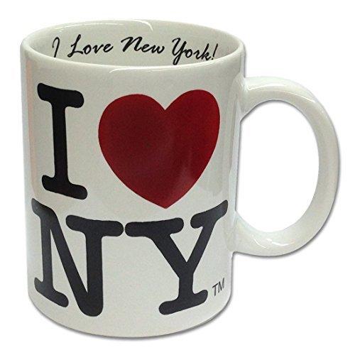 (I Love NY White 11 Oz Coffee Mug W Inside Inscription I Love New)