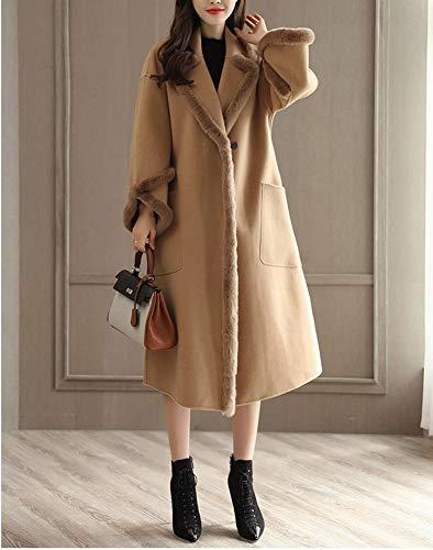 Cappotto Lungo Il Lunga Spessore Femminile Cappotto Invernale Lana A Grosso Ginocchio Di Di Sezione Di Cammello XQY Lana Cappotto aZtwq