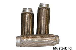 Conector de tubos Tubo flexible tubo TUBO FLEXIBLE BIFURCADO EN Y TUBO DE ESCAPE 45 x 200 mm Tubo flex Largo 200mm / Diámetro 45mm