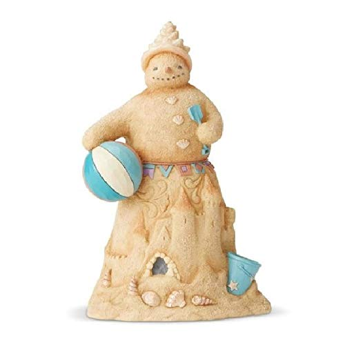 Enesco Jim Shore Heartwood Creek Coastal Sandman with BeachBall Figurine, 8.5