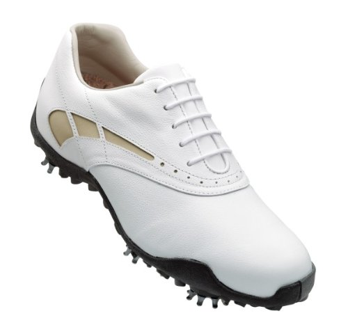 FootJoy LoPro Golf Shoes 97228 Womens White/Taupe Medium 9.5