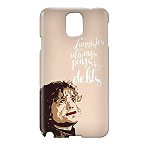 Loud Universe Samsung Galaxy Note 3 3D Wrap Around Lannister Pays Debts Print Cover - Beige