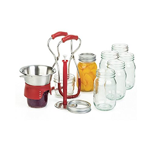 Progressive PL8 Stainless Steel Canning Kit with Red Accents