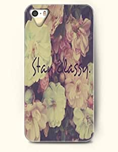 iPhone 4/4s 4S Case OOFIT Phone Hard Case **NEW** Case with Design Stay Classy- Flower - Case for Apple iPhone 4/4s/4s