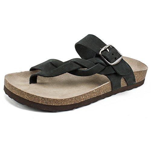 (WHITE MOUNTAIN Shoes Honor Women's Sandal, Black/Nubuck, 6 M)