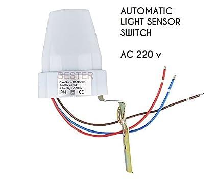 Buy ARRAY SHOP Automatic Day Photo Sensor Night Light LDR Switch AC ...