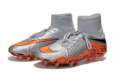Generic Herren HYPERVENOM II Phantom Premium FG Flyknit grau Hi Top Fußball Schuhe Fußball Stiefel