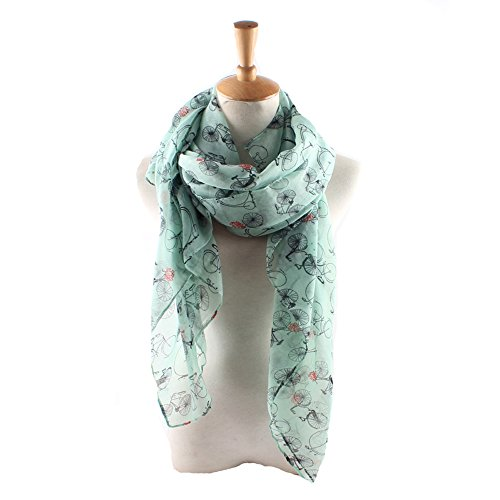 - ctshow bicycle Print Voile Print Scarf Fashionable Women Scarves shawl