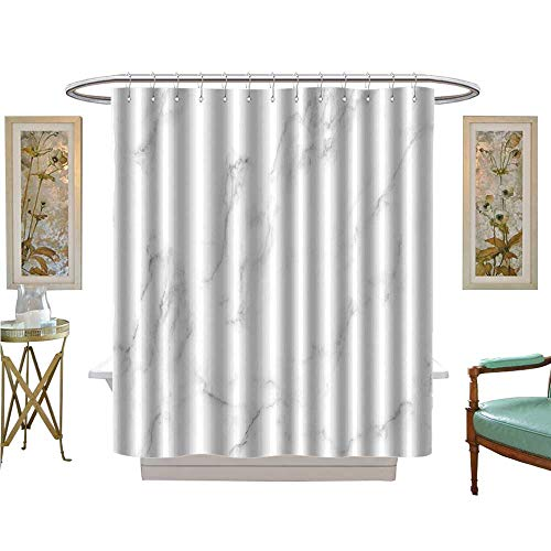 luvoluxhome Shower Curtains Digital Printing Natural White Marble Texture for Skin Tile Wallpaper Luxurious Background Patterned Shower Curtain W54 x L78