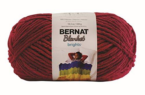 Bernat Blanket Brights Big Ball Yarn, 10.5 Ounce, Racecar Red, Single (Blanket Yarn)