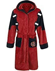 Official Marvel Deadpool Fleece Adult Dressing Gown Bathrobe - One Size