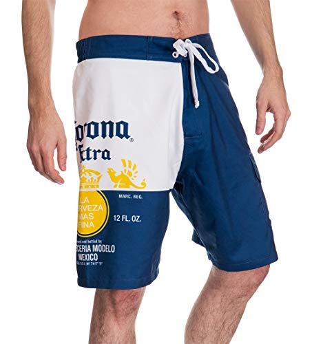 Corona Mens Bottle Label Boardshort (Medium)