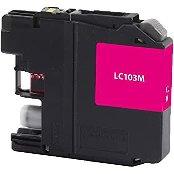 Dataproducts DPCLC103M High Yield Inkjet Cartridge for Brother LC-103XL, Magenta
