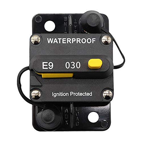 Cherry-Lee 30 AMP Manual Reset Circuit Breaker Protector, Overcurrent Protector Current Circuit Breaker with Diverter Switch Motorhome Boat Accessories
