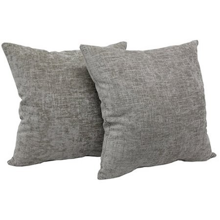 Mainstays Chenille Throw Pillow, Set of 2, Beige by Mainstay