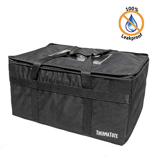 (ThermaTote Professional Food Delivery Bag - Leakproof Inner Liner - 23