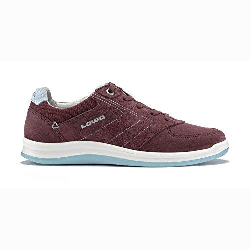 Lowa 3207493771 - Zapatos de cordones para mujer - BORDEAUX/EISBLAU