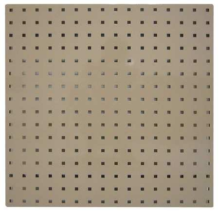 Square Hole Pegboard, 24x24, Tan, PK2