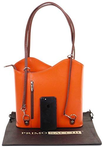 rangement de ou marque Sac nbsp;Versions de moyennes Orange cuir Grand à sac dos main nbsp;Comprend grandes un en à à sac main à bandoulière et sac fabriqué protecteur et Marron italien la SX4Sap