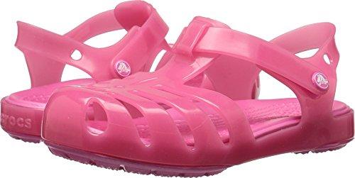 Crocs Girls Isabella Sandal PS Flat, Paradise Pink, 12 M US Little Kid