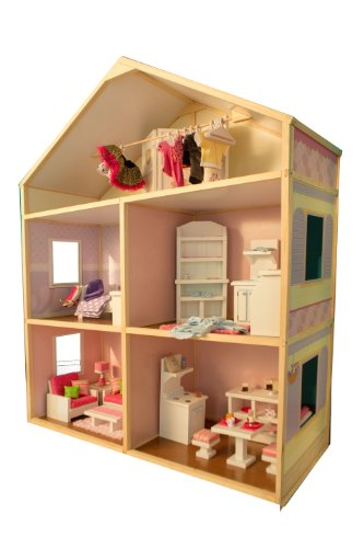 Sweet Bungalow Dollhouse by My Girl's Dollhouse