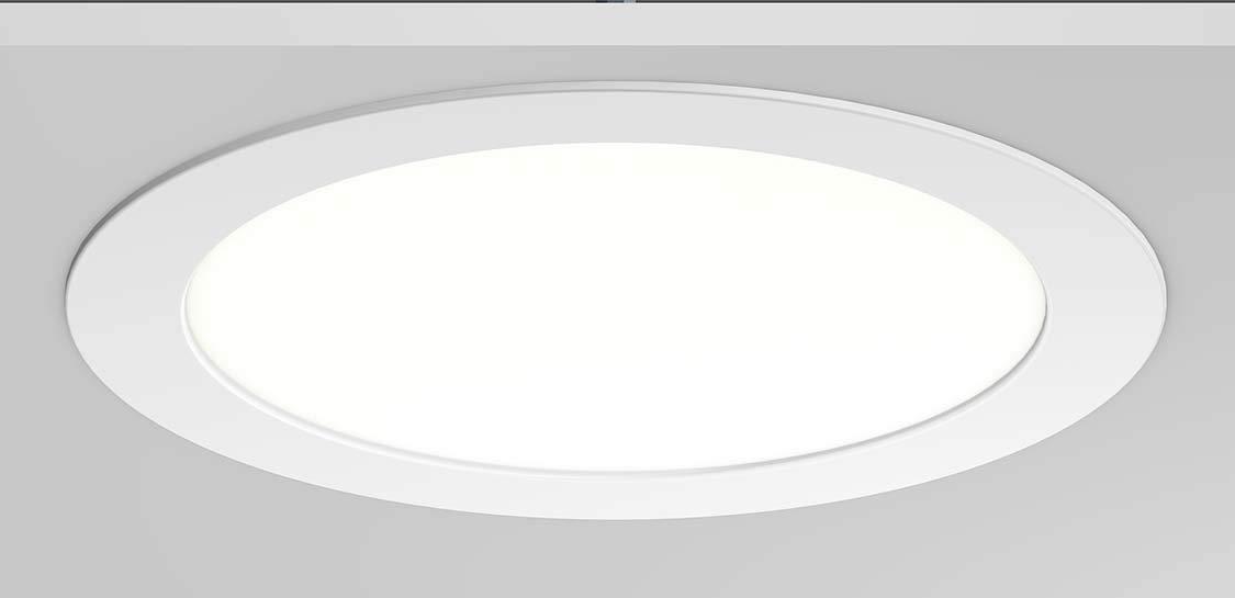 RZB led empotrable Toledo-Flat Blanco 901453.002.76 1xled18w 3000k 1300lm Eléctrica industrial Bombillas