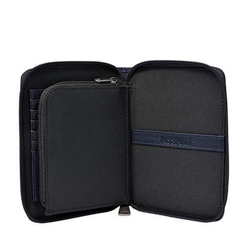 "41pa1P%2BET4L - Fossil Men's Zip Passport Case ,Midnight Navy,6""L x 0.75""W x 4.5""H"