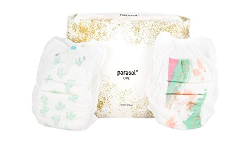 Parasol Natural Baby Diaper Pants - Chlorine Free, Chemical Free, Hypoallergenic, Eco-friendly - Desert Spring Collection - Size 4-5, 4 Packs of 24, 96 - Pants Diaper
