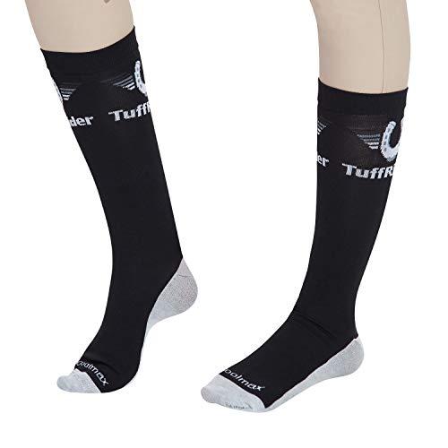 (TuffRider Jpc Coolmax Boot Socks, Black, Standard)