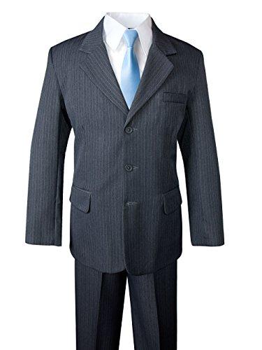 Spring Notion Big Boys' Pinstripe Suit Set Grey/Light Blue 12 by Spring Notion (Image #7)