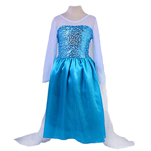 FE1V Elsa Dress Girl Kid Halloween Costume 2T-12 USA