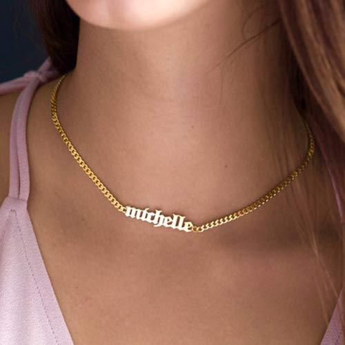 collier prenom gothique