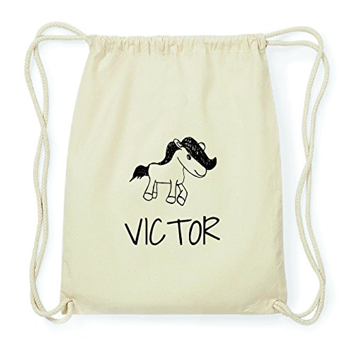 JOllipets VICTOR Hipster Turnbeutel Tasche Rucksack aus Baumwolle Design: Pony Bpf4B