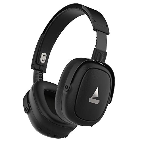 boAt NIRVANAA 717ANC Active Noise Cancellation Headphones with Bluetooth v5.0, IPX4 Sweat & Water Resistance & HD 40mm Dynamic Drivers Black
