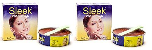 Sleek Facial Hair Remover Wax Pack Of 2 (Each-80G)
