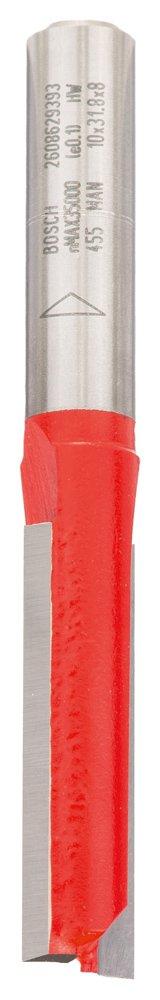 Bosch 2608629393 Fraise /à rainurer droit 8 mm d1 10 mm Longueur 31,8 mm G 69 mm