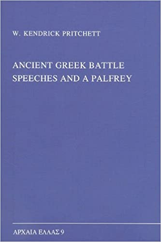 Book Ancient Greek Battle Speeches and a Palfrey (Monographs on Ancient Greek History and Archaeology)