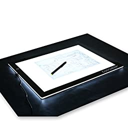 Coocheer LED Artcraft Tracing Light Box A3-Ultra Thin, Dimmable Led, Professional Drawing Pad(19.3 X 14.8inch, A3)