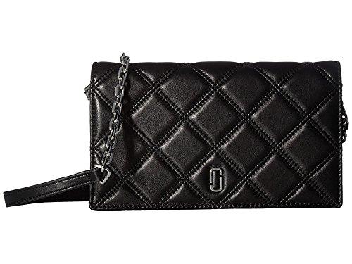 Marc Jacobs Women's Double J Cross Body Wallet, Black, One Size