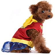 DC Comics for Pets Wonder Woman Dog Costume, Size X-Small (XS) | Superhero Halloween Costume for Dogs | Soft and Cute Dog Clothes and Outfits, Dog Costume for Small Dogs, Red