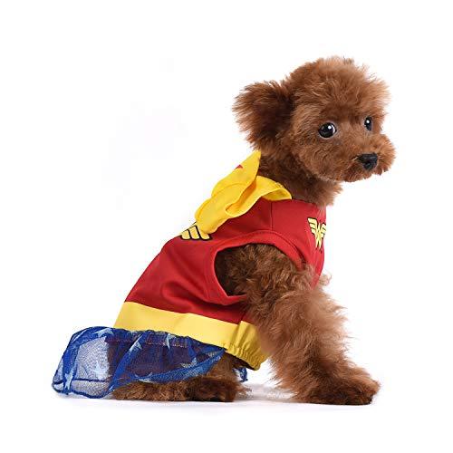 X Small Dog Halloween Costumes (DC Comics Wonder Woman Dog Costume   Superhero Costume for Dogs   Dog Halloween Costume,)