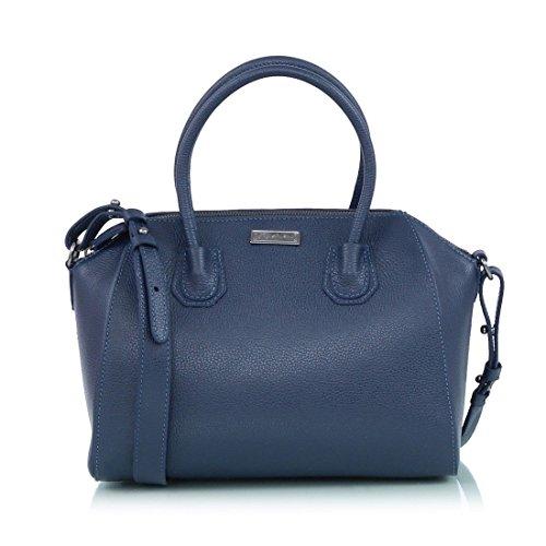 Bolsa Grande Em Couro Floater Azul