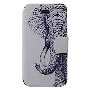WEV Elephant Pattern PU Full Body Case with Card Slot for iPhone 4/4S